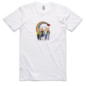 Outer Sanctum Rainbow White Tee
